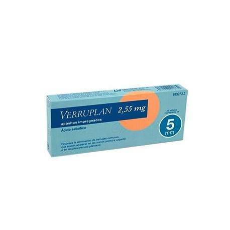 Verruplan 5 Mm 20 Apositos 2,55 Mg
