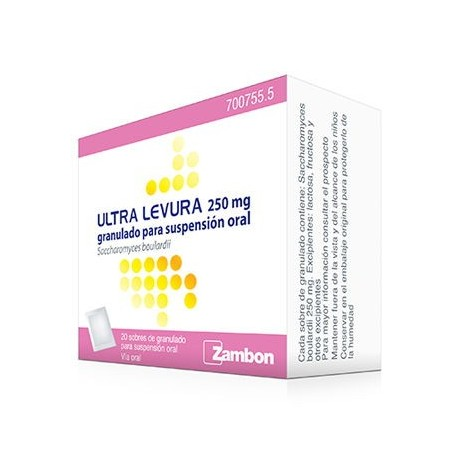 ULTRA-LEVURA 250 MG GRANULADO PARA SUSPENSION ORAL , 20 sobres
