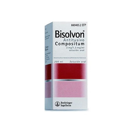 BISOLVON ANTITUSIVO COMPOSITUM 3 mg/ml + 1,5 mg/ml SOLUCION ORAL , 1 frasco de 200 ml
