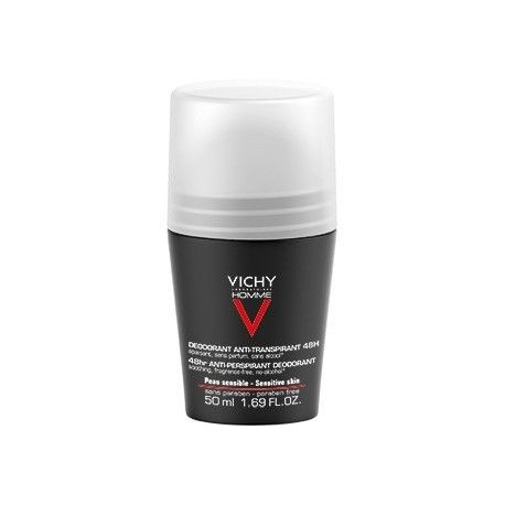 Vichy Homme Desodorante Pieles Sensibles Roll-on De 50 Ml