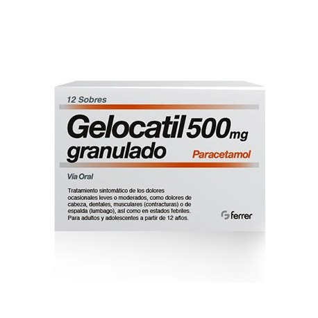 Gelocatil 500 Mg 12 Sobres Granulado