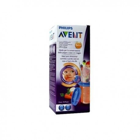 Philips Avent Recipentes Via  5 Vasos De 240 + 5 Tapas