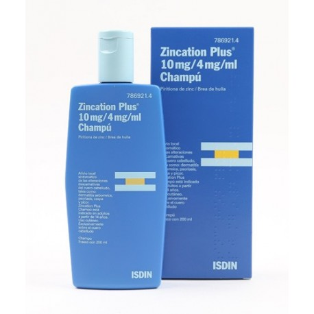 Zincation Plus Champu 300 Ml