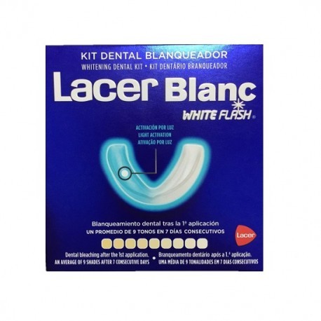 Kit Dental Blanqueador Lacerblanc White Flash