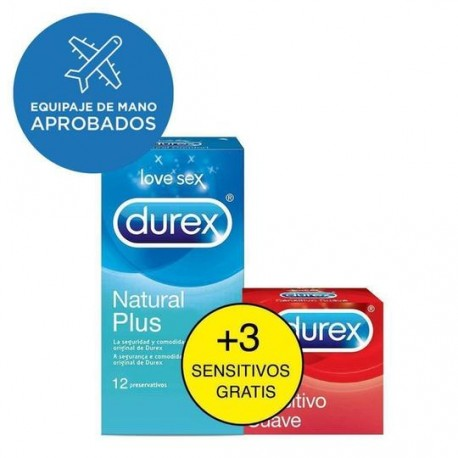 Preserv.Durex Natural Plus  12+3 Sensiti