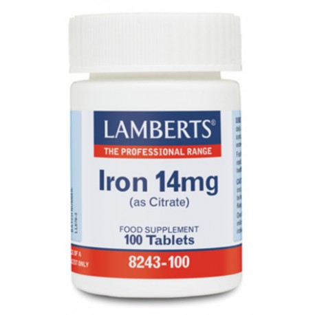 LAMBERTS IRON 14 MG 100 TABLETAS