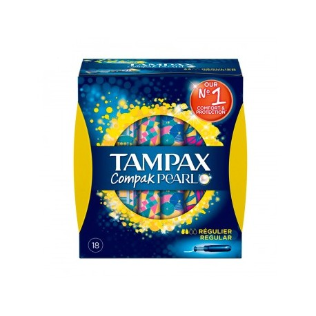 TAMPONES TAMPAX COMP PEARL REG 18UND