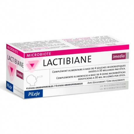 LACTIBIANE IMEDIA PILEJE STICKS ORODISPENSABLES 4 STICKS