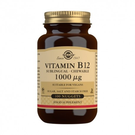 SOLGAR VITAMINA B12 SUBLINGUAL 100 COMP