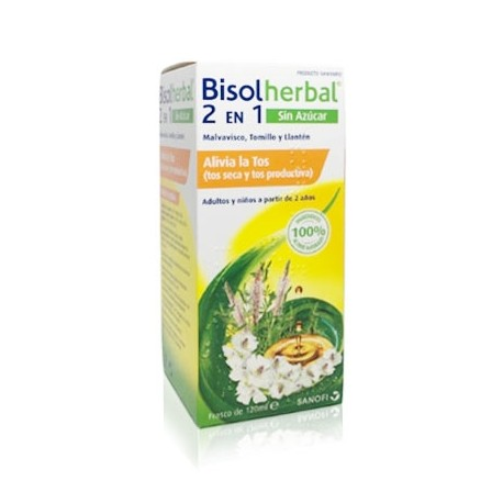 BISOLHERBAL 2 EN 1 MALVAVISCO, TOMILLO Y LLANTEN 120 ML
