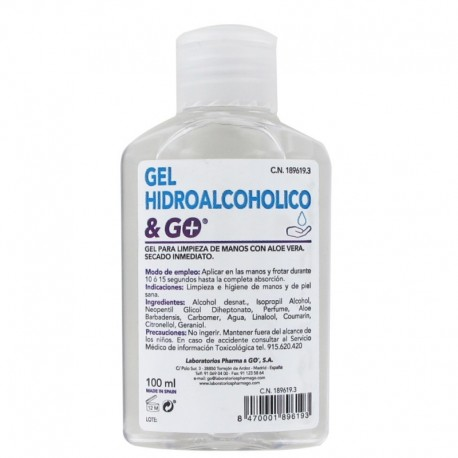 GEL HIDROALCOHOLICO & GO 100 ML
